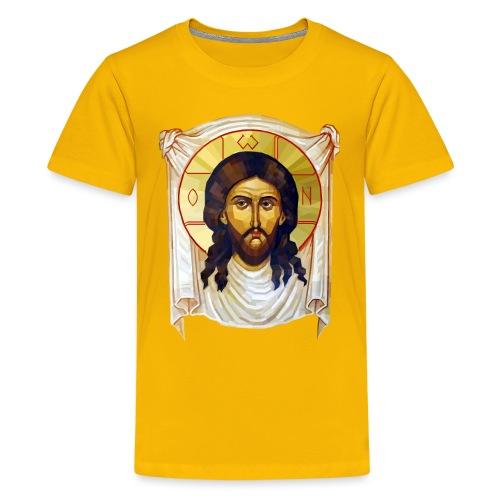 Low-Poly Jesus Icon - Teenage Premium T-Shirt