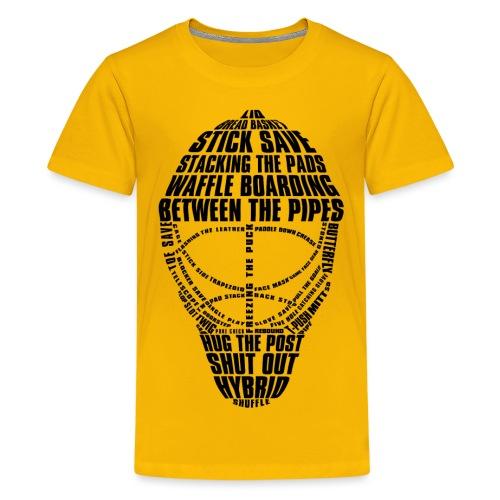 Ice Hockey Goalie Mask (black) - Teenage Premium T-Shirt
