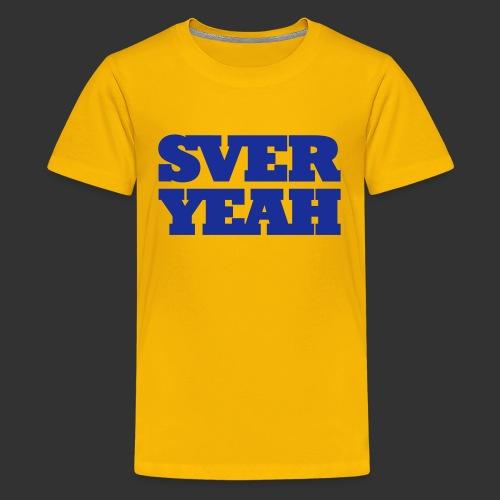 SVERYEAH GulBlå - Premium-T-shirt tonåring