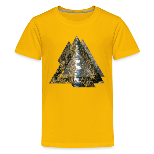 Triangle Tropical Palm Street - Teenager Premium T-Shirt