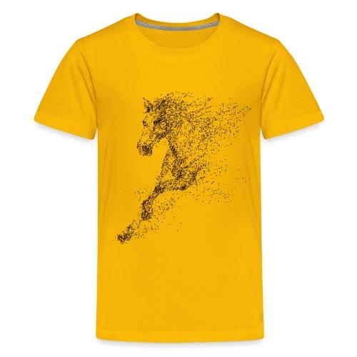Vorschau: Pixel Horse brown - Teenager Premium T-Shirt