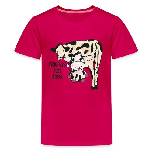Friends not food - Teenage Premium T-Shirt