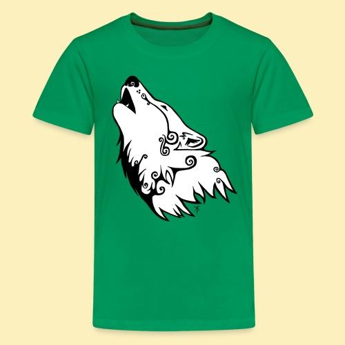 Le Loup de Neved (version blanche) - T-shirt Premium Ado