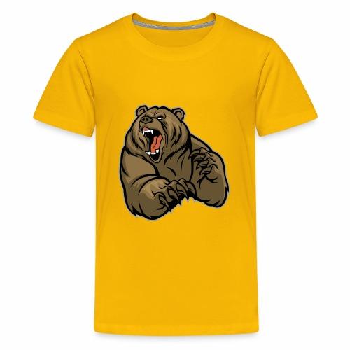 méchant grizzli - T-shirt Premium Ado