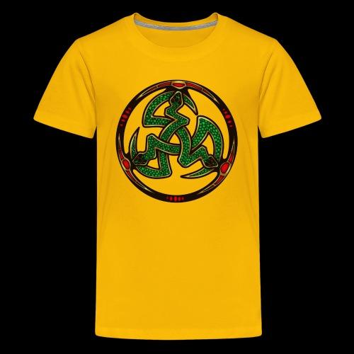 Serpent Triskellion - Teenage Premium T-Shirt