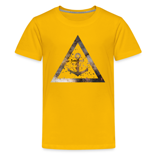 Galaxy Anchor Geometry Triangle - Teenager Premium T-Shirt