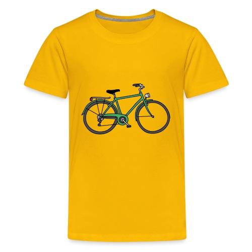 Grünes Fahrrad Bike - Teenager Premium T-Shirt