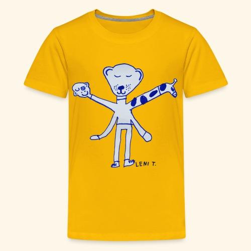 LeniT Teddy With a Twist - Teinien premium t-paita