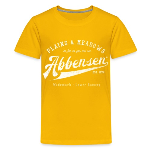 Abbensen retro destroyed - Teenager Premium T-Shirt