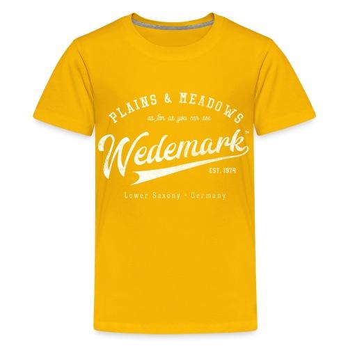 Wedemark Retrologo - Teenager Premium T-Shirt