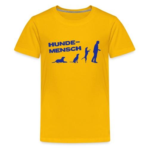 Recycling Stoffbeutel - Hundemensch - Teenager Premium T-Shirt