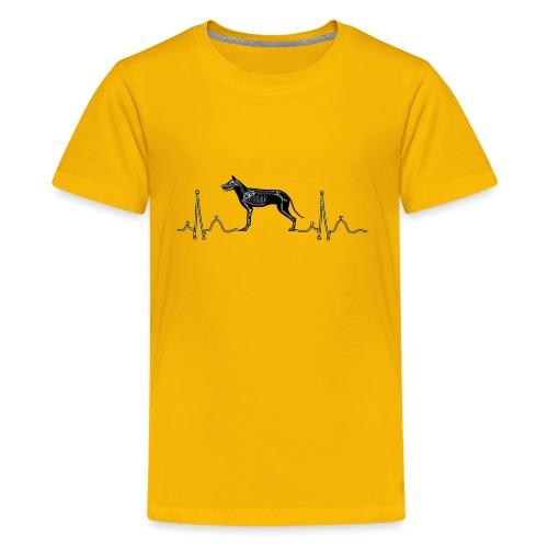 ECG met hond - Teenager Premium T-shirt