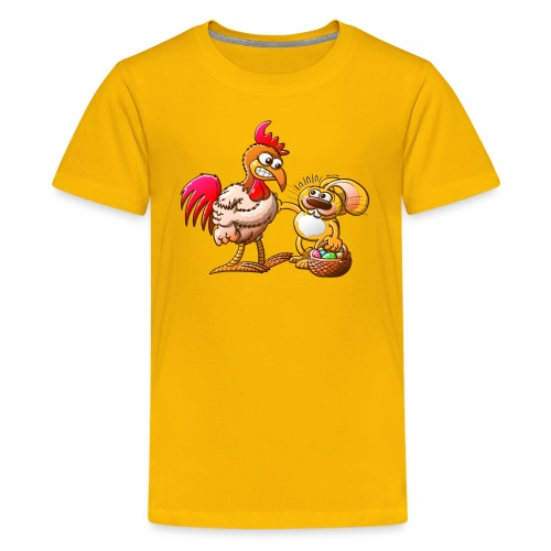 Easter Bunny in Trouble - Teenage Premium T-Shirt