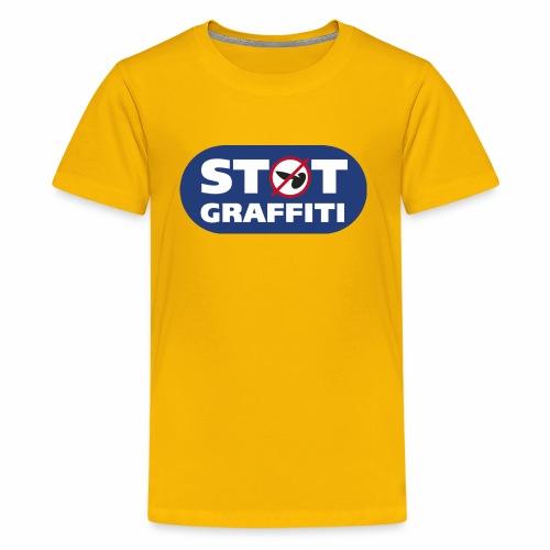 støt graffiti - blk logo - Teenager premium T-shirt