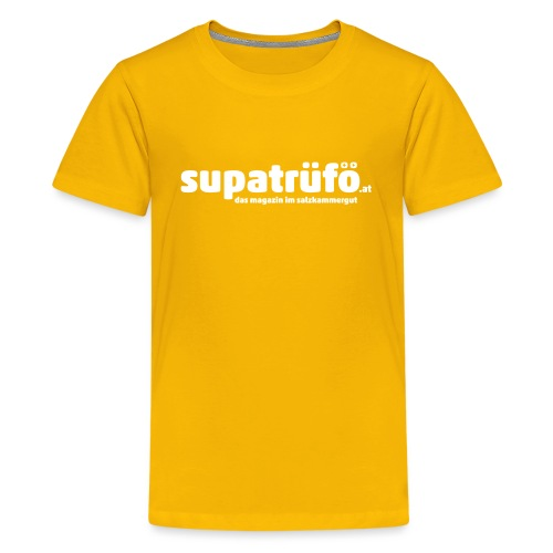 supatrüfö das magazin im salzkammergut - Teenager Premium T-Shirt