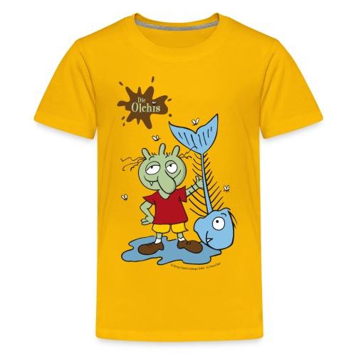 Oetinger Die Olchis mit Fisch - Teenager Premium T-Shirt