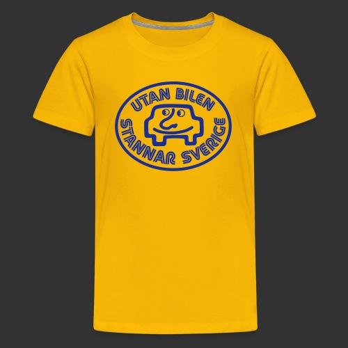 Utan bilen stannar Sverige blå - Premium-T-shirt tonåring