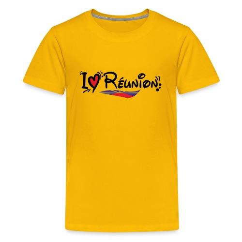 i love Réunion - T-shirt Premium Ado