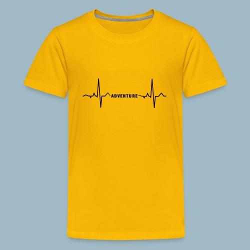 ECG long short black - Teenage Premium T-Shirt