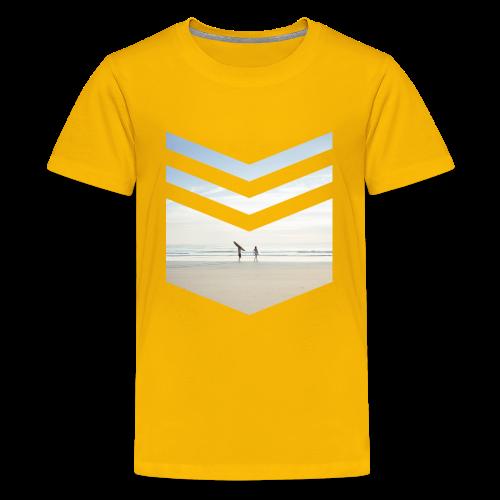 Surf Beach Triangle - Teenager Premium T-Shirt