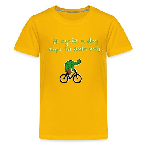 A cycle a day keeps the doctor away - Teenager Premium T-Shirt