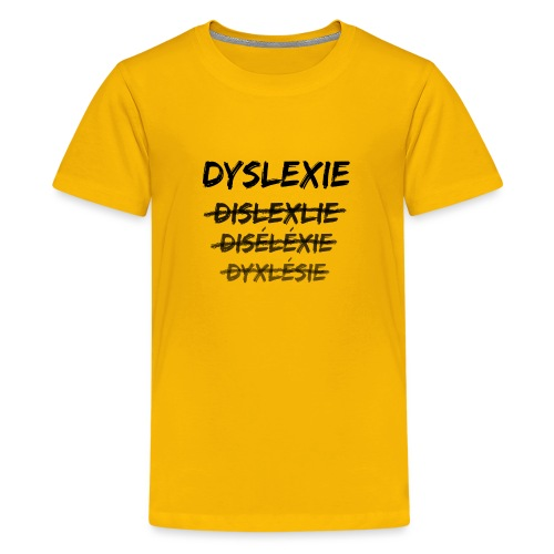 Dyslexie - T-shirt Premium Ado