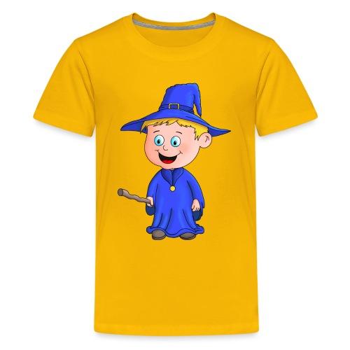 Kleiner Zauberer liebt die Zauberei - Teenager Premium T-Shirt