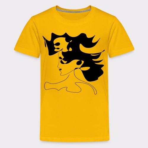 LINEART ALLES WIRD GUT FRAU ILLUSTRATION Line Art - Teenager Premium T-Shirt