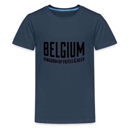 Belgium kingdom of frites & beer - T-shirt Premium Ado