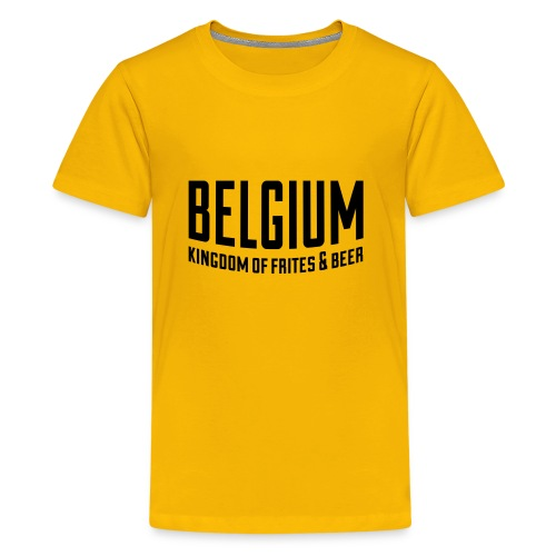 Belgium kingdom of frites & beer - T-shirt Premium Ado
