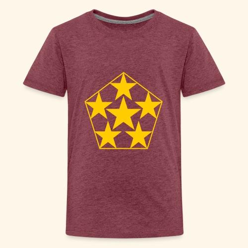 5 STAR gelb - Teenager Premium T-Shirt