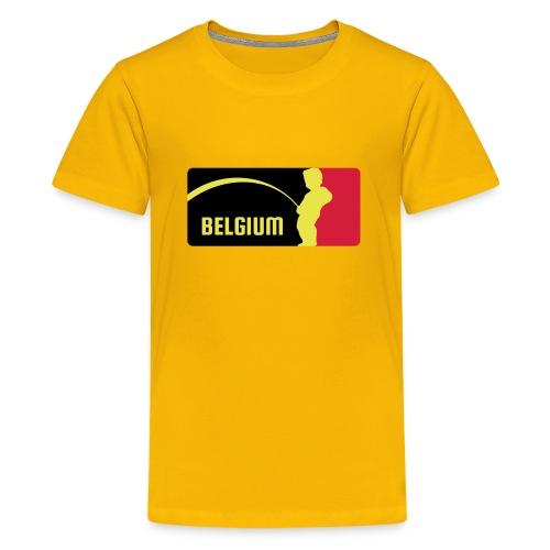 Mannekke Pis, Belgium Rode duivels - Belgium - Bel - T-shirt Premium Ado