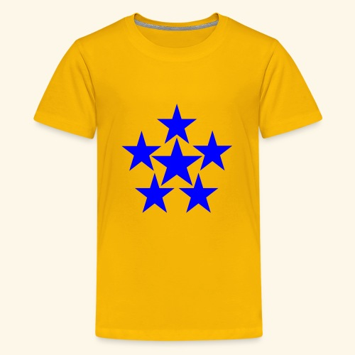 5 STAR blau - Teenager Premium T-Shirt
