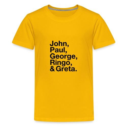 JPGRG black - Teenager Premium T-Shirt