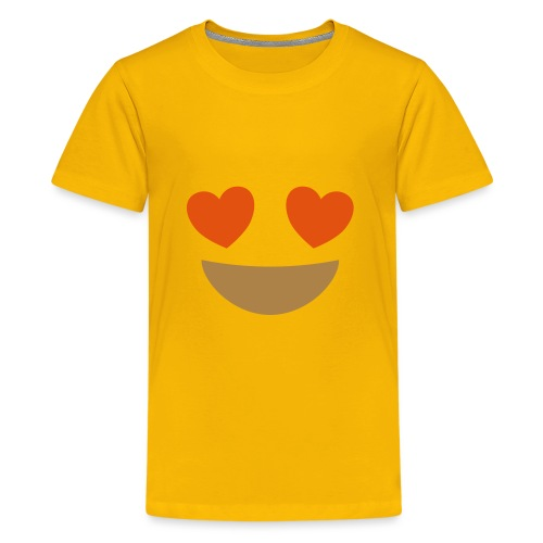 Emoji smiling face with heart eyes - Teenage Premium T-Shirt