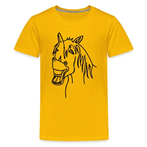 hevonen2 - Teinien premium t-paita
