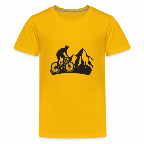 Mountainbike - Bergliebe - Teenager Premium T-Shirt