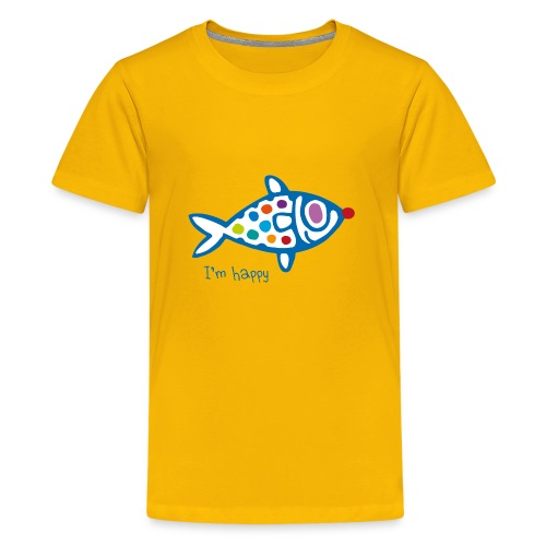 poisson HAppy - T-shirt Premium Ado