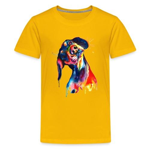 Perrito adorable - Camiseta premium adolescente