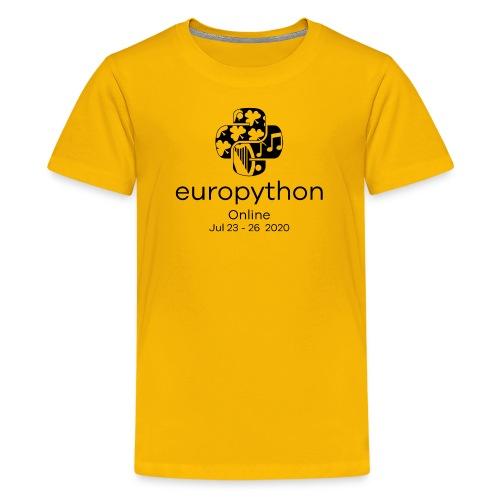 EuroPython 2020 - Vertical Black Logo - Teenage Premium T-Shirt