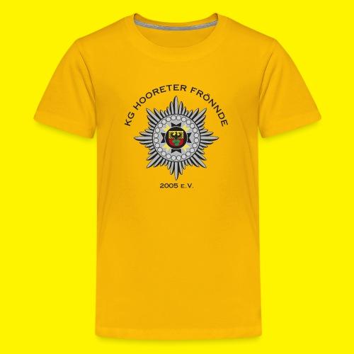 Schwarze Schrift - Teenager Premium T-Shirt