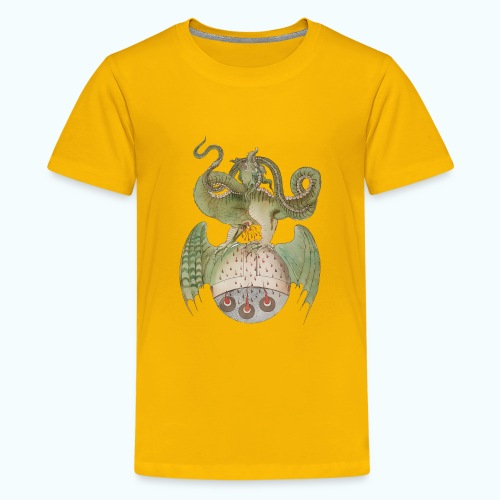 Middle Ages Dragon - Teenage Premium T-Shirt