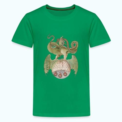 Middle Ages Dragon - Teenage Premium T-Shirt