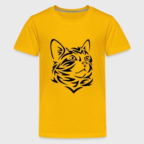 Chat Tribal Tattoo - T-shirt Premium Ado