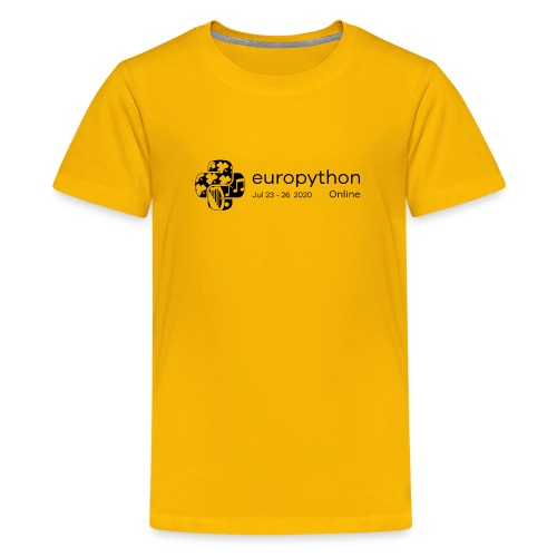 EuroPython 2020 - Black Logo - Teenage Premium T-Shirt