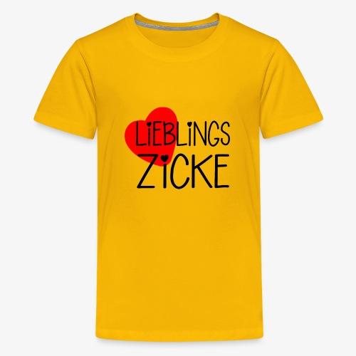 LieblingsZicke Geschenkidee Valentinstag - Teenager Premium T-Shirt
