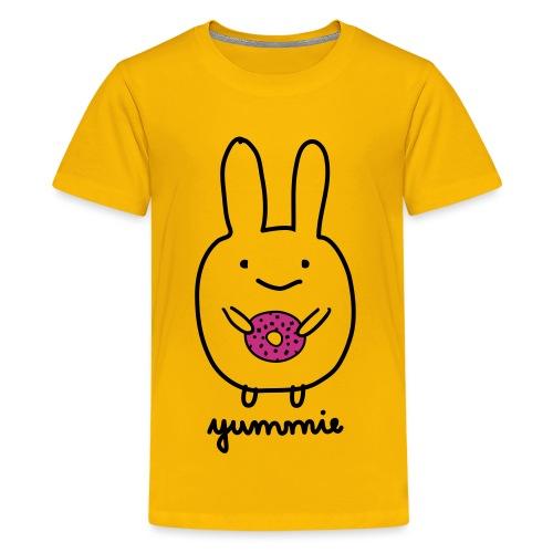 Dirk yummie hase kaninchen bunny häschen donut - Teenager Premium T-Shirt