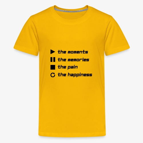 Play the Moments Stop the Pain - Teenager Premium T-Shirt