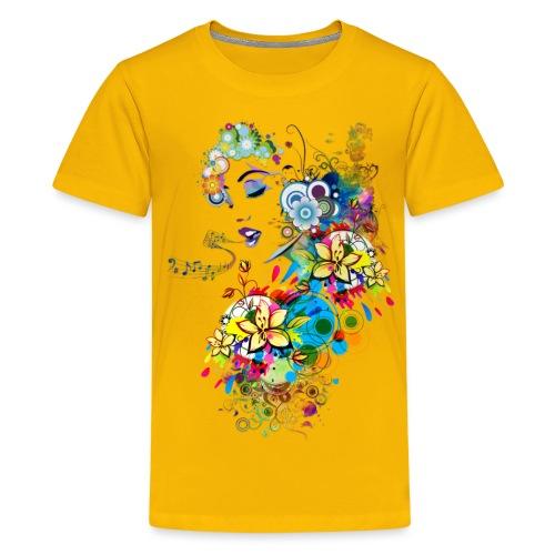 Lady singer - T-shirt Premium Ado