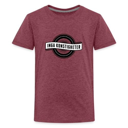 Inga Konstigheters klassiska logga (ljus) - Premium-T-shirt tonåring
